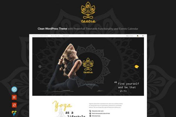 Tantra -  Bir Yoga Stüdyosu ve Fitness Kulübü WP Temasısı