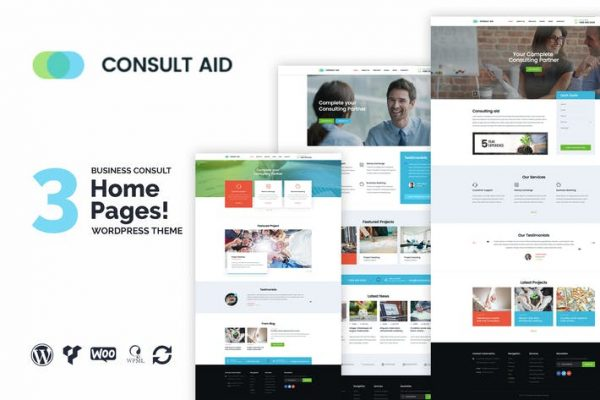 Consult Aid Business Consulting & Finance WP Teması
