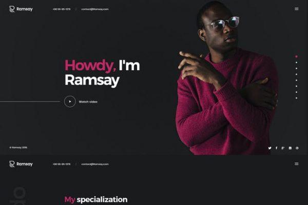 Ramsay -  Kişisel WordPress CV / Özgeçmiş Temasısı