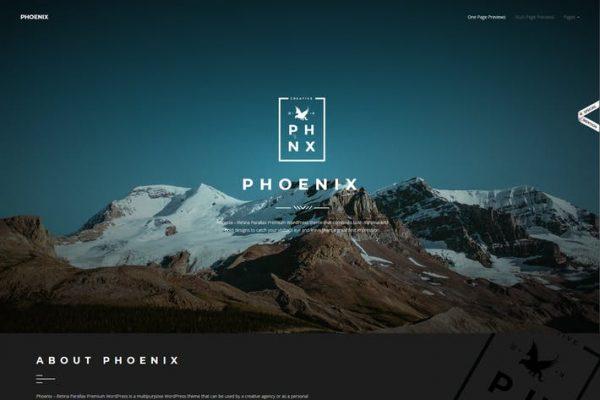 Phoenix - WordPress Minimal Çok Amaçlı Portföy