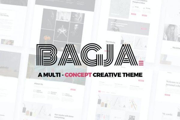 Bagja -  Duyarlı Çoklu Konsept ve Bir Sayfa Portfo