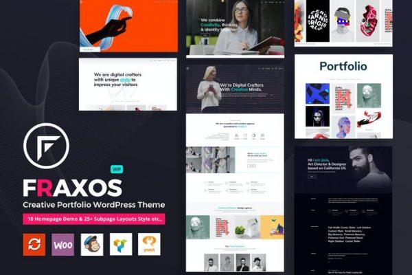 Fraxos - Yaratıcı Portföy WordPress Teması Türü