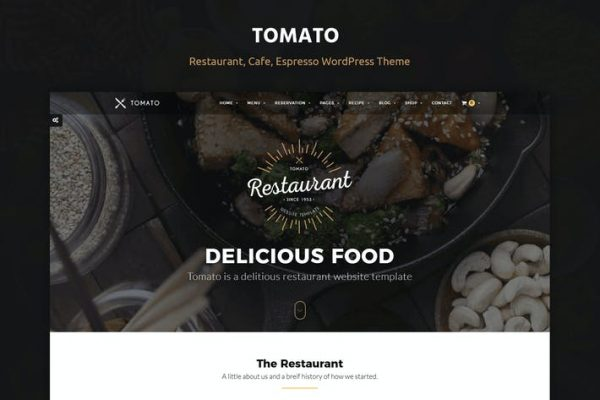 Tomato Restaurant, Cafe, Espresso WordPress  Teması
