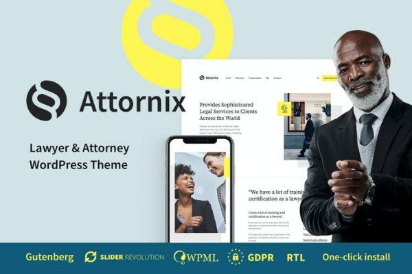 Attornix -  Avukat WordPress Temasısı