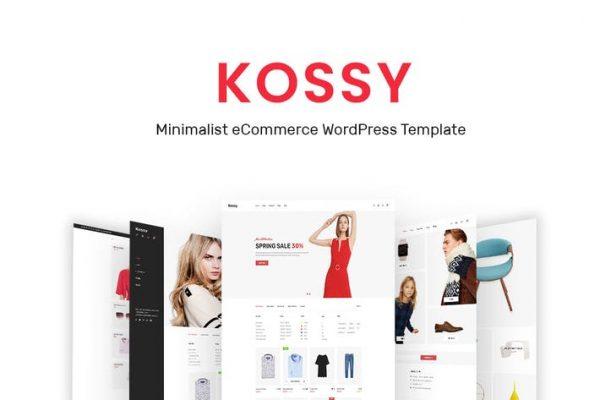 Kossy - Minimalist e-Ticaret WordPress Temasısı