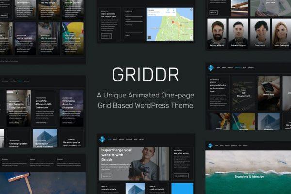 Griddr - Animasyonlu Izgara Yaratıcı WordPress Temasısı