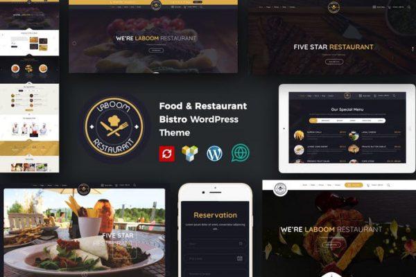 La Boom -  Yiyecek ve Restoran Bistro WordPress Teması