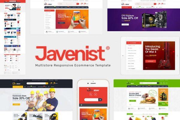 Javenist -  Çok Amaçlı e-Ticaret WordPress Temasısı