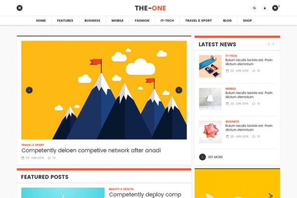 The One News Magazine Blog -  Duyarlı WordPress
