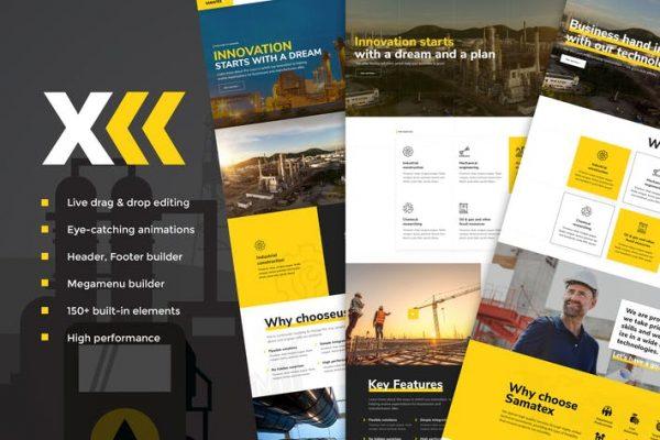 Samatex -  Endüstriyel WordPress Temasısı + Woocommerce