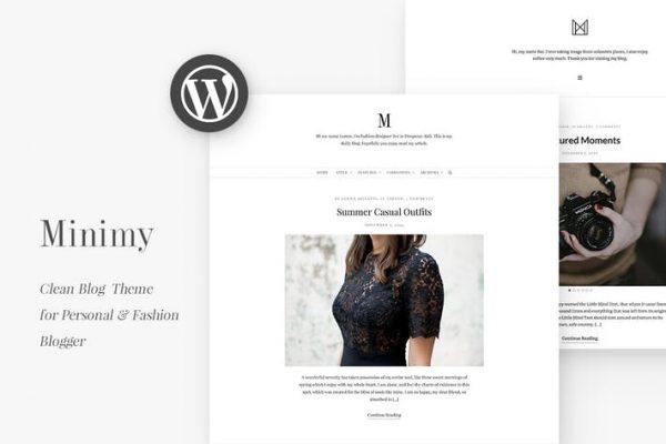 Minimy - Duyarlı Temiz Kişisel ve Moda Blogu