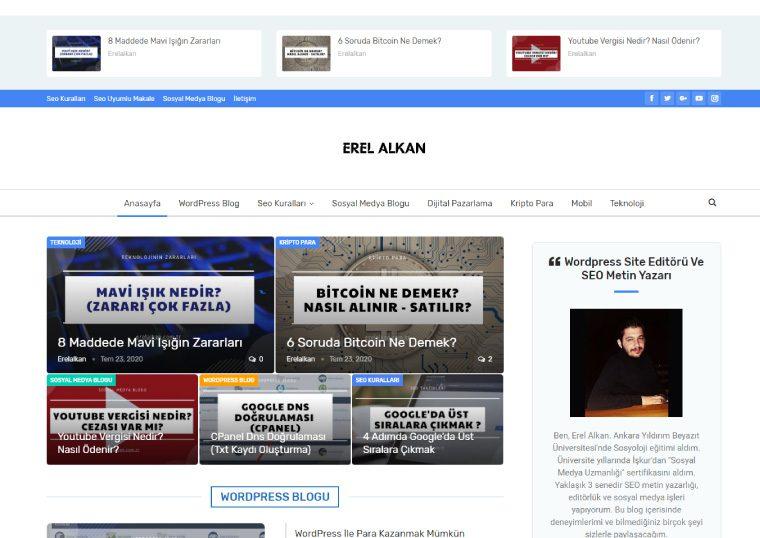 Erel Alkan - Kişisel Website