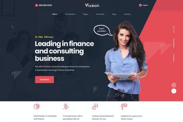 Vizeon - İş Danışmanlığı WordPress Temasıları