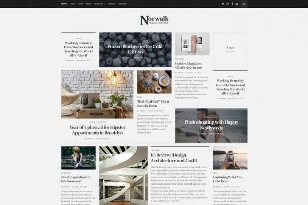 Norwalk - Trend Blog WordPress Temasısı