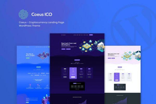 Coeus -  Cryptocurrency Açılış Sayfası WordPress Them