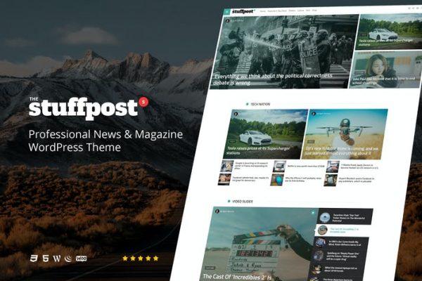 StuffPost -  Profesyonel Haberler ve Dergi WordPress