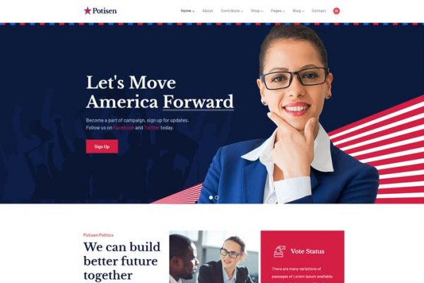 Potisen - Seçim ve Politik WordPress Temasısı