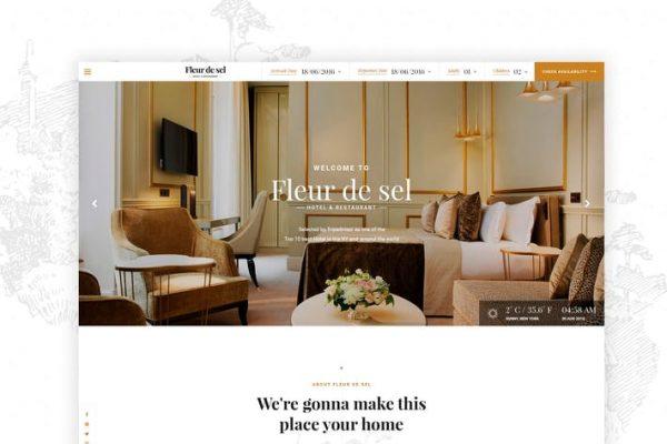 Fleurdesel - Otel Rezervasyonu WordPress Temasısı