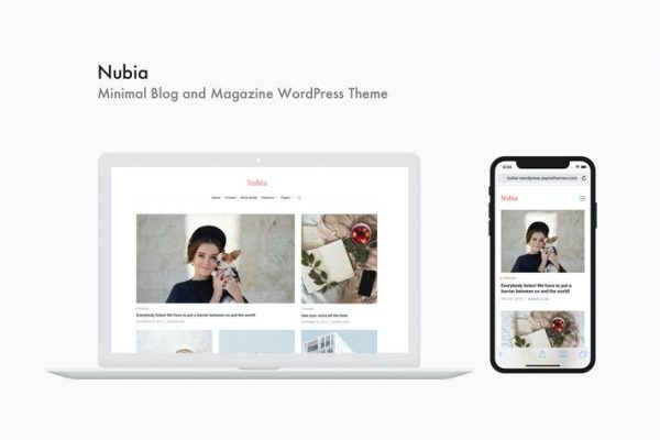 Nubia - Minimal Blog ve Dergi WordPress Temasısı
