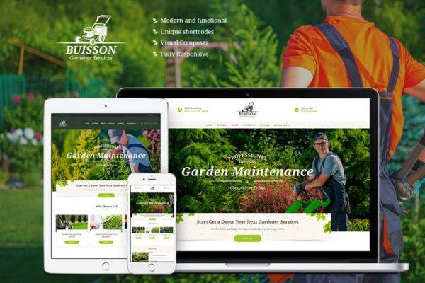 Buisson -  Bahçe WordPress Temasısı