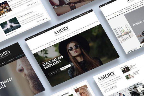 Amory Blog - Duyarlı bir WordPress Blog Temasısı