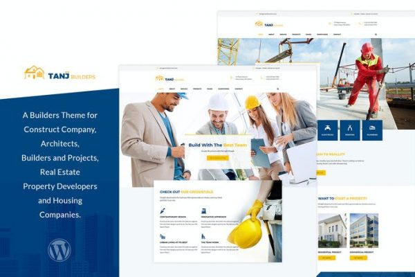 Tanj -  Mimari, İnşaat WordPress Temasısı