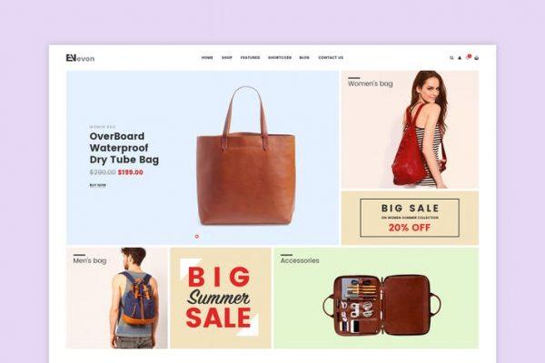 Evon - Çanta Mağazası WooCommerce WordPress Temasısı