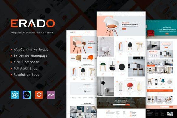 Erado - benzersiz tasarım WordPress teması