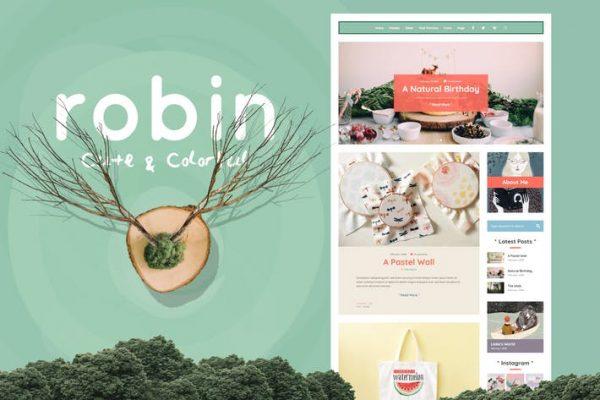 Robin -  Sevimli ve Renkli Blog Temasısı