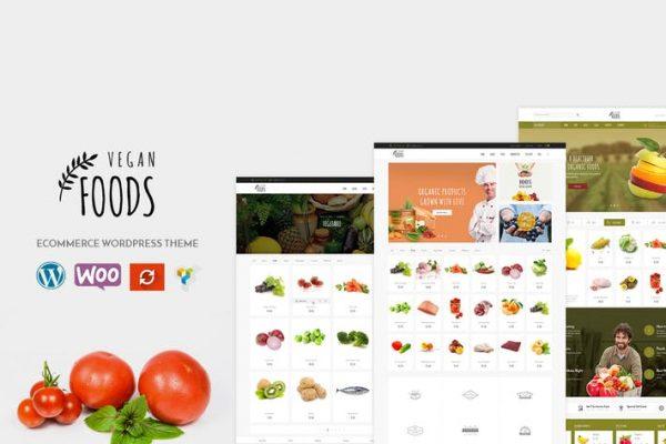 Vegan -  Organik Mağaza WooCommerce WordPress Temasısı