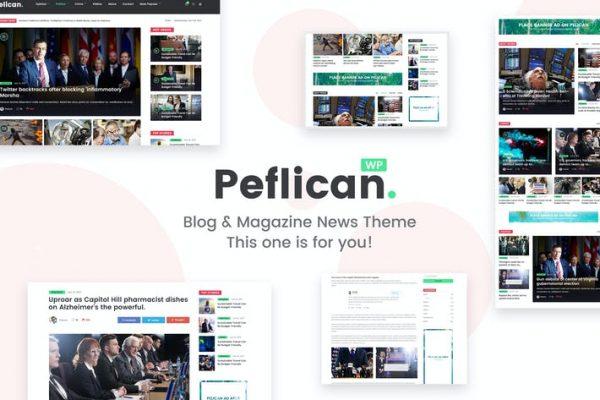 Peflican - Bir Gazete ve Dergi WordPress Temasısı