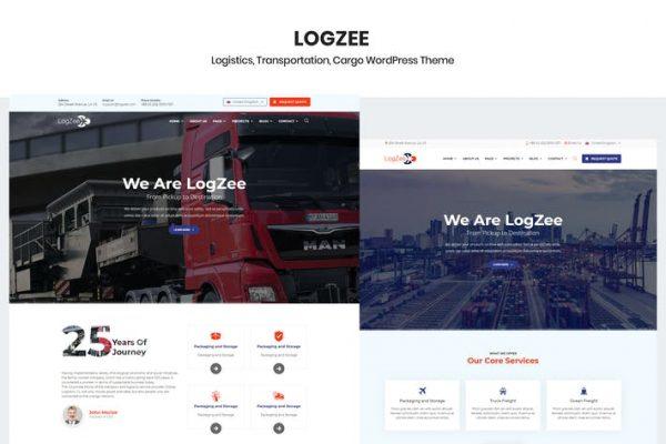 Logzee - Lojistik Kargo WordPress Temasısı