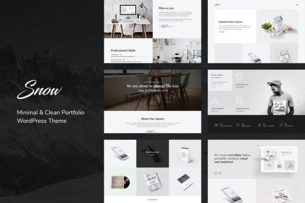 Snow -  Minimal & Clean WordPress Portföy Temasısı