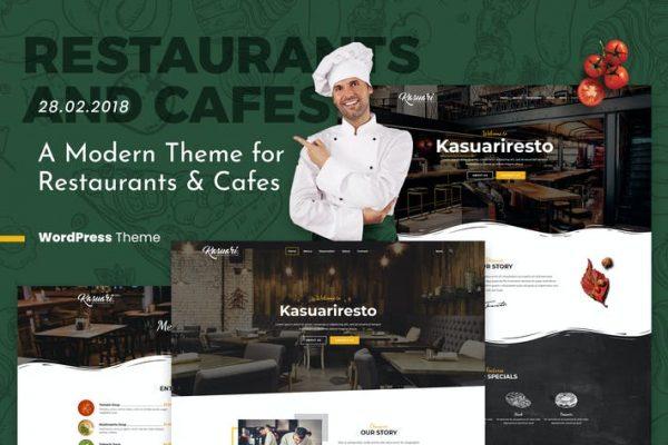 Kasuari - Restoranlar ve Kafeler WordPress Temasısı