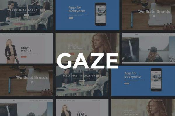 Gaze -  Duyarlı Çok Amaçlı WordPress Temasısı