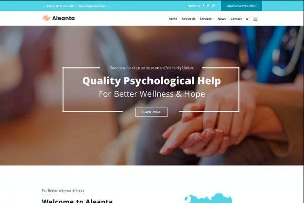 Aleanta -  Psikoloji WordPress Temasısı