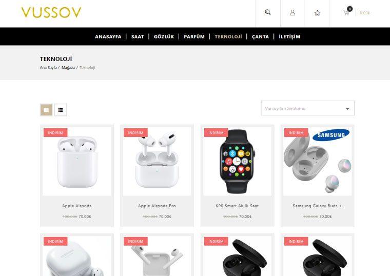 Vussov Lüks Aksesuar Satış Sitesi