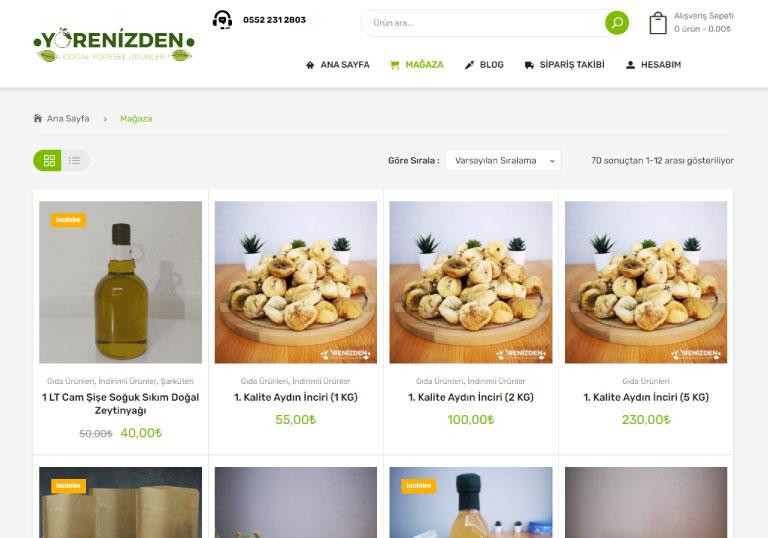 Yörenizden.com Organik Ürün Satış Sitesi